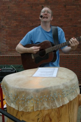Mark Shepard Performing at the Wooster Square Farmer's Market