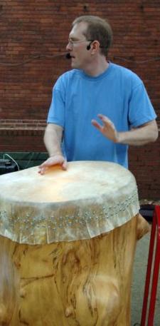 "Mark Shepard Playing ""Bob - the Big Drum"""