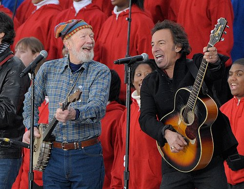 Pete Seeger & Bruce Springsteen at President Obamas Inauguration 2009